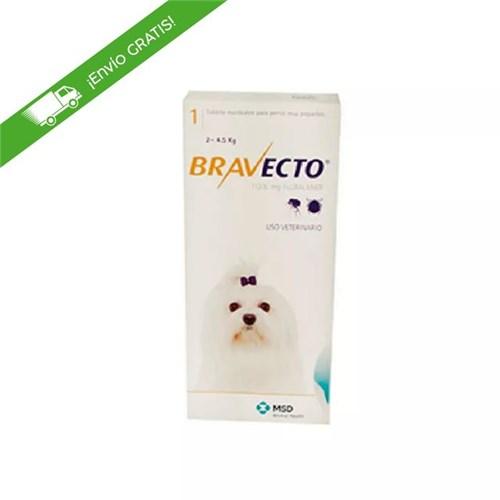 Tudo sobre 'Antipulgas Bravecto de 2 a 4.5 Kg para Perro'
