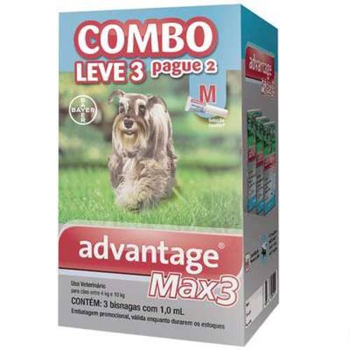 Tudo sobre 'Antipulgas e Carrapatos Bayer Advantage Max3 Combo para Cães de 4 Kg a 10 Kg'