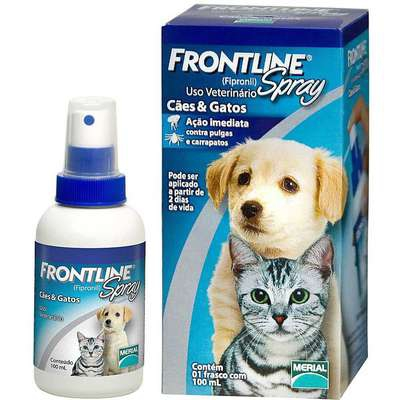 Antipulgas e Carrapatos Frontline Spray 100 ML para Cães e Gatos - Merial