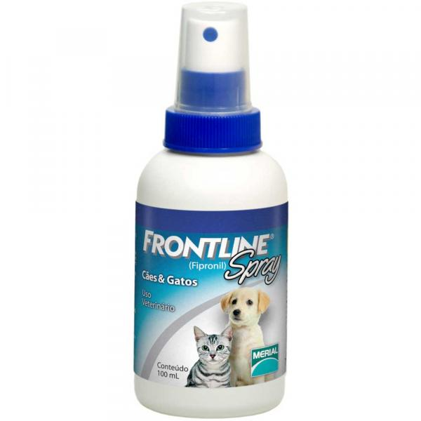Antipulgas e Carrapatos Frontline Spray para Cães e Gatos - 100 Ml - Merial