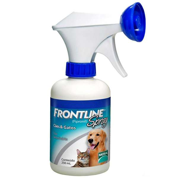 Antipulgas e Carrapatos Frontline Spray para Cães e Gatos - 250 Ml - Merial