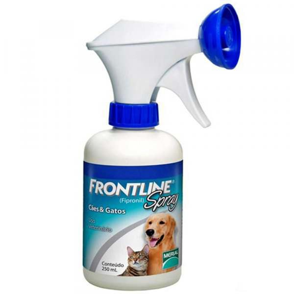 Antipulgas e Carrapatos Frontline Spray para Cães e Gatos 250ml - Merial