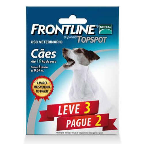 Tudo sobre 'Antipulgas e Carrapatos Frontline Top Spot para Cães de 1 a 10 Kg - Leve 3 Pague 2'