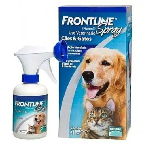 Antipulgas e Carrapatos Merial Frontline Spray para Cães e Gatos 250ml