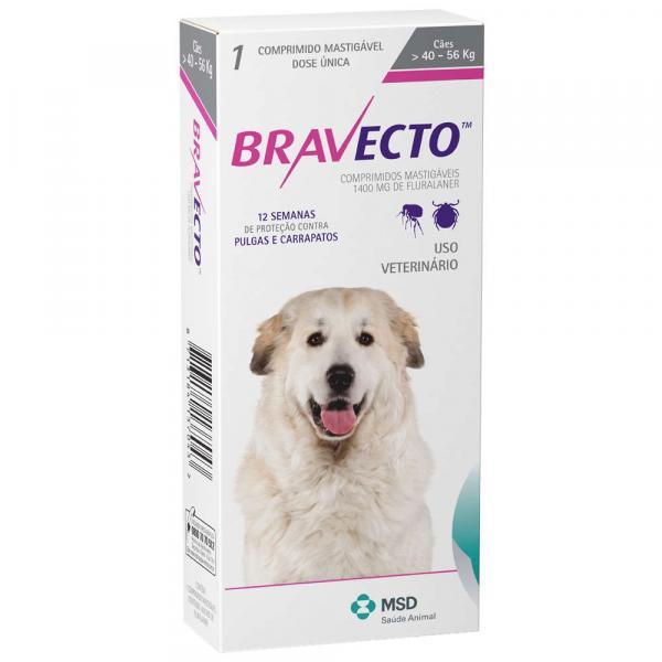 Tudo sobre 'Antipulgas e Carrapatos MSD Bravecto para Cães de 40 a 56 Kg'