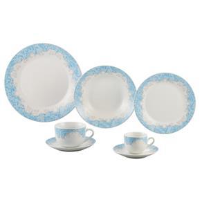 Aparelho 42 Peças de Jantar de Porcelana Super White Benidorm Wolff - R17188 - BRANCO