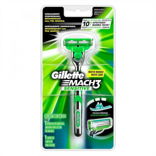 Aparelho de Barbear Gillette Mach 3 Sensitive - Pg
