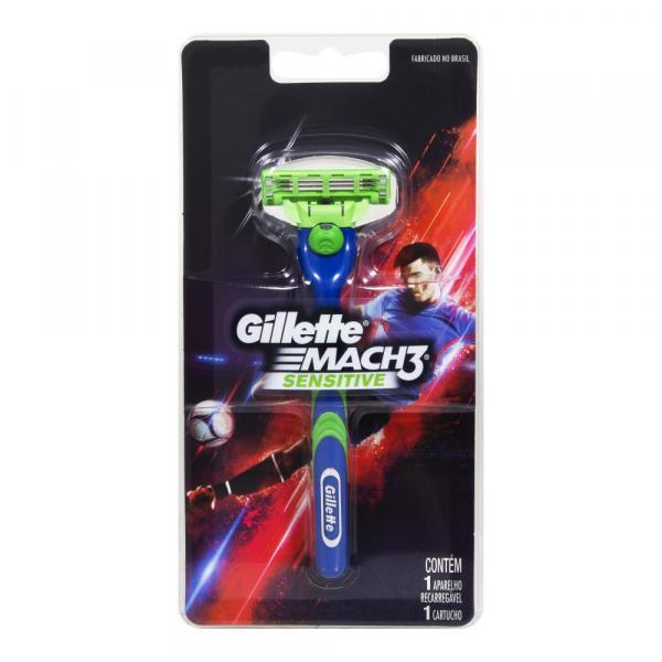Aparelho de Barbear Mach3 Sensitive 1 Unidade - Gillette