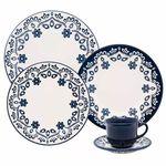 Aparelho de Jantar 30 Peças Floreal Energy Branco e Azul - Oxford