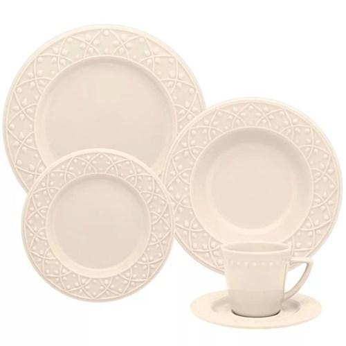 Aparelho de Jantar 20 Peças Mendi Marfim - Oxford - Off White