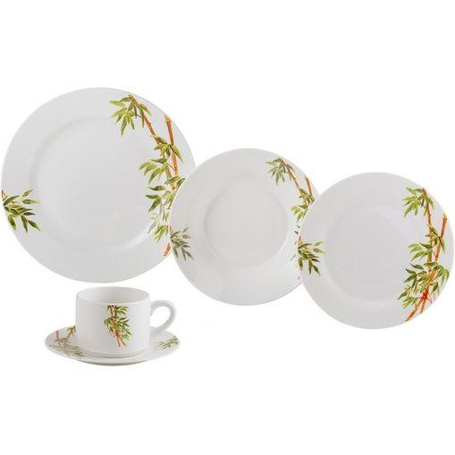 Aparelho de Jantar 20 Peças para Chá em Porcelana Verde Tropicalis 2135 Lyor