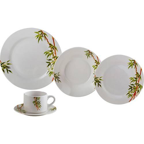 Aparelho de Jantar 20 Peças Porcelana Tropicalis Branco - Lyor
