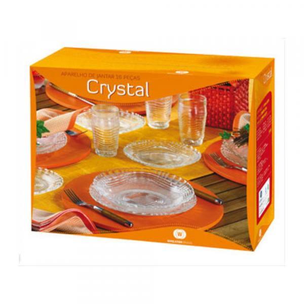 Aparelho de Jantar 16 Peças Crystal - Wheaton