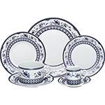 Aparelho de Jantar 42 Peças de Porcelana BonGourmet Regina Azul Mail Box - Rojemac