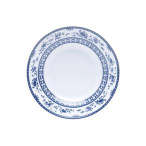 Aparelho de Jantar 42 Peças de Porcelana Regina Mail Box Rojemac Azul