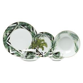 Aparelho de Jantar 42 Peças em Porcelana Tropical 8268 Lyor - Branco