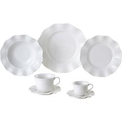 Aparelho de Jantar 42 Peças Porcelana Princess Branco - Lyor