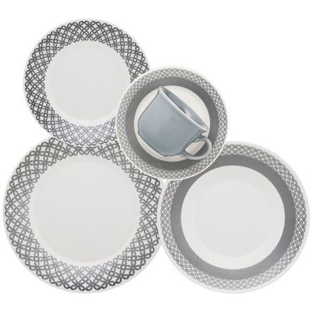 Aparelho de Jantar/Chá 20 Peças - Rendeira