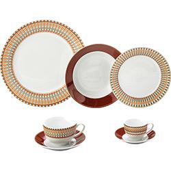 Aparelho de Jantar Colorado 42 Peças Porcelana Vermelho - Lyor