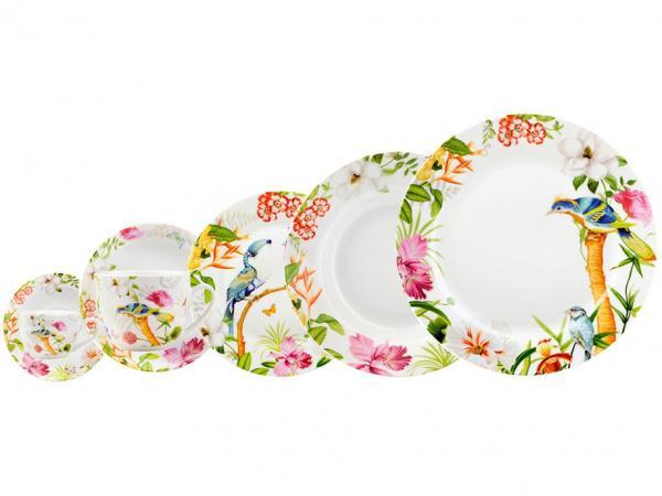 Aparelho de Jantar de 42 Peças - Casambiente Tropical