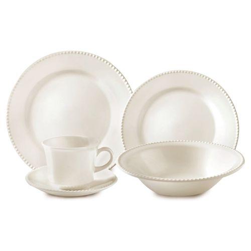 Aparelho de Jantar de Cerâmica - 20 Peças - Perla