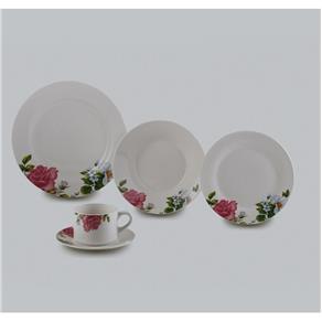Aparelho de Jantar de Porcelana 20 Peças Roses Lyor - L2142