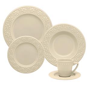 Aparelho de Jantar e Chá Oxford Daily Mendi Marfim – 20 Peças