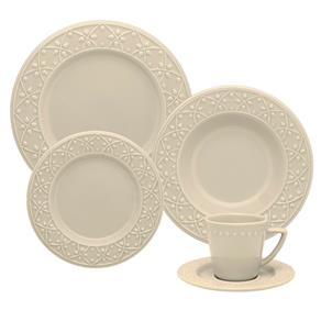 Aparelho de Jantar e Chá Oxford Daily Mendi Marfim – 30 Peças