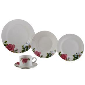 Aparelho de Jantar Lyor Classic Roses em Porcelana - 20 Peças