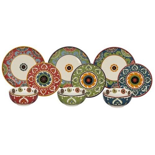Tudo sobre 'Aparelho de Jantar Porcelana 18 Peças Royal Suzani'