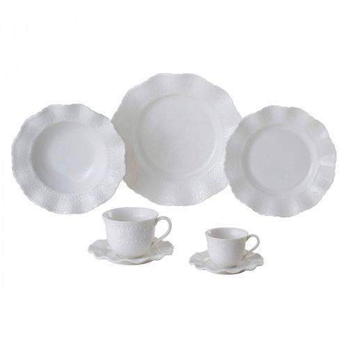 Aparelho de Jantar Porcelana 42 Peças Princess Lyor Branco