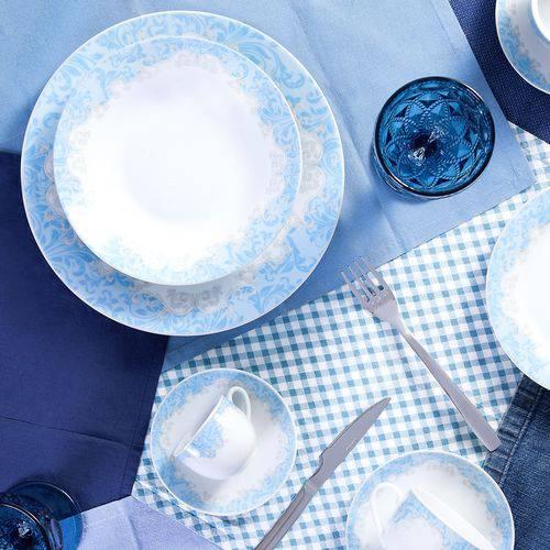 Aparelho de Jantar Porcelana Super White Benidorm Wolff 42 Pçs