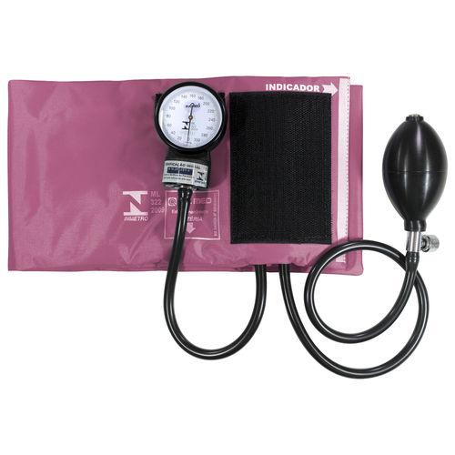 Aparelho de Pressão P.A.Med Adulto Nylon Velcro Rosa