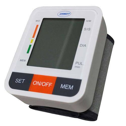 Aparelho de Pressão Supermedy - Medição Inteligente, Gráfico Nível de Hipertensão; Visor LCD