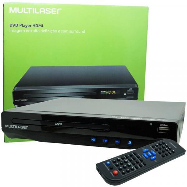 Aparelho Dvd Player Hdmi Hd 5.1 Canais Rca Usb Mp3 Função Karaoke Multilaser Preto SP193