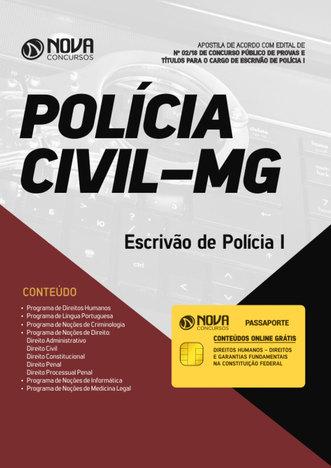 Tudo sobre 'Apostila Pc-Mg - Escrivão de Polícia I'