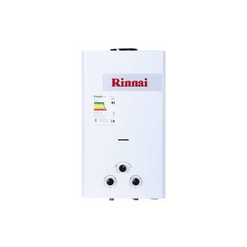 Aquecedor a Gás Mecânico 15L Exaustão Natural Rinnai Gn Branco
