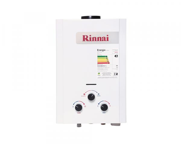 Aquecedor a Gás Mecânico 7,5L GN Exaustão Natural Branco - Rinnai