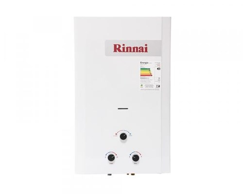 Aquecedor a Gás Mecânico 20L GLP Exaustão Natural Branco - Rinnai