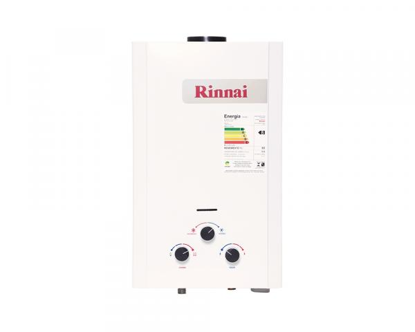 Aquecedor a Gás Mecânico 9L GN Exaustão Natural Branco - Rinnai