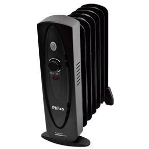 Aquecedor a Óleo Philco Comfort Home com Temperatura Ajustável - Preto - 110v