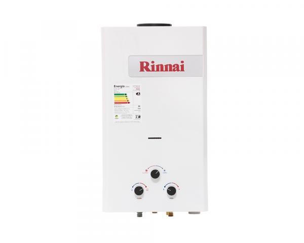 Aquecedor a Gás Mecânico 15L GLP Exaustão Natural Branco - Rinnai