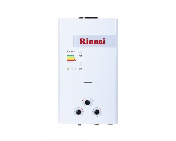 Aquecedor Rinnai à Gás Mecânico REU158 GLP 15L Exaustão Natural Branco