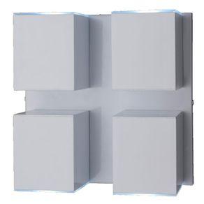 Arandela Alumínio 4Xgu10 Cube Articulada Bca A-94 BR Ideal