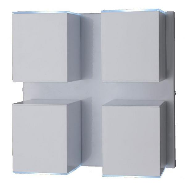 Arandela Alumínio Ideal Articulada Cube Branca 4xGU10