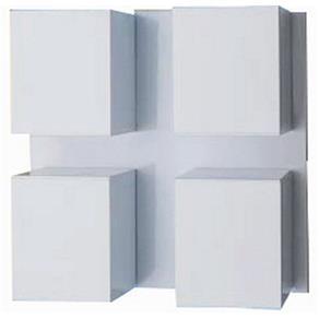 Arandela Articulável em Alumínio Branca 4xGU10 Cube A-94 Ideal