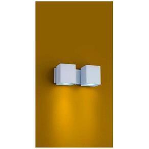 Arandela Articulável em Alumínio Branca 2xGu10 Cube A-92 Ideal