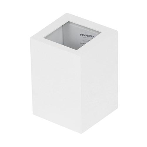 Arandela Externa Branca Alumínio Frankfurt Germany