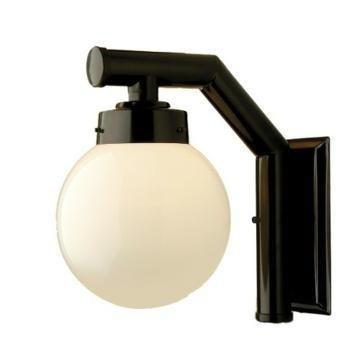 Arandela Luminária Preta Colonial Globo 210 Vidro