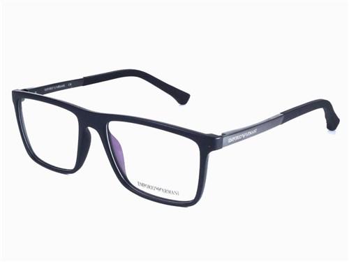 Armação de Óculos de Grau Masculino Ea1279 (Preto)